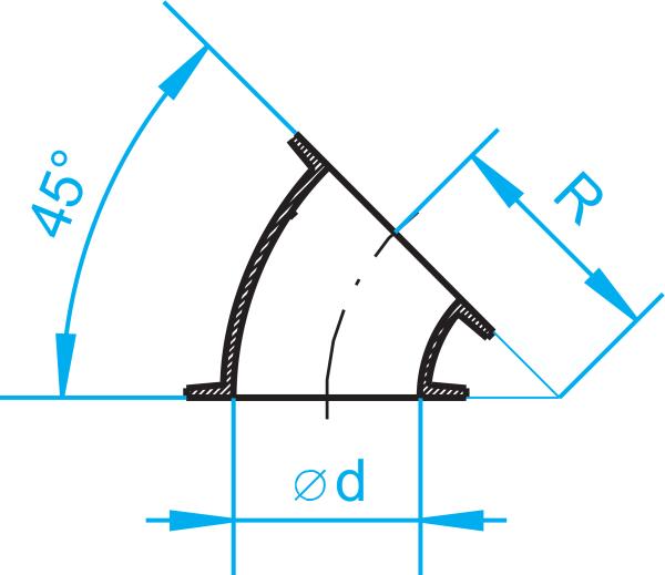 Cast-iron segments 45°-0