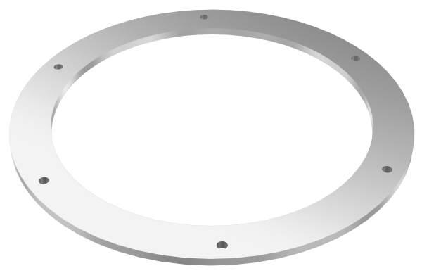 Counter flange for connection, round-0