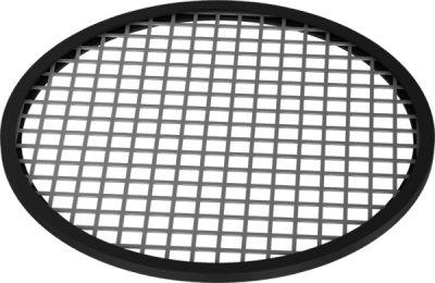 Perforated sheet metal with U-shaped seal for 2mm-0
