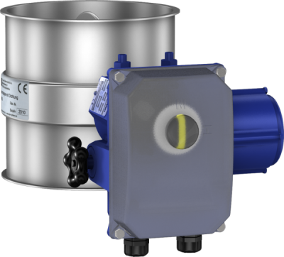 Throttle valves with seal, electrically operated with an adjustable Deufra drive-0