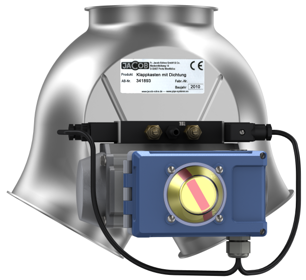 Two-way symmetrical valves with seal, fitted with pneumatic rotary actuator-0