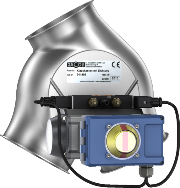 Two-way asymmetrical valves with seal, fitted with pneumatic rotary actuator-0