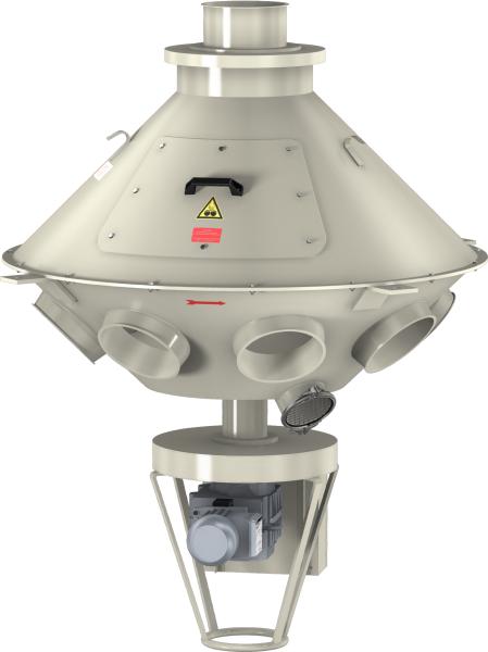 Turn-head distributors 45° dust-tight version -0