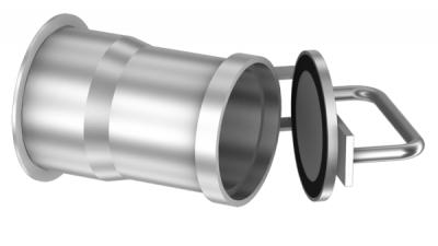 Hose socket with cover for hose plug-0